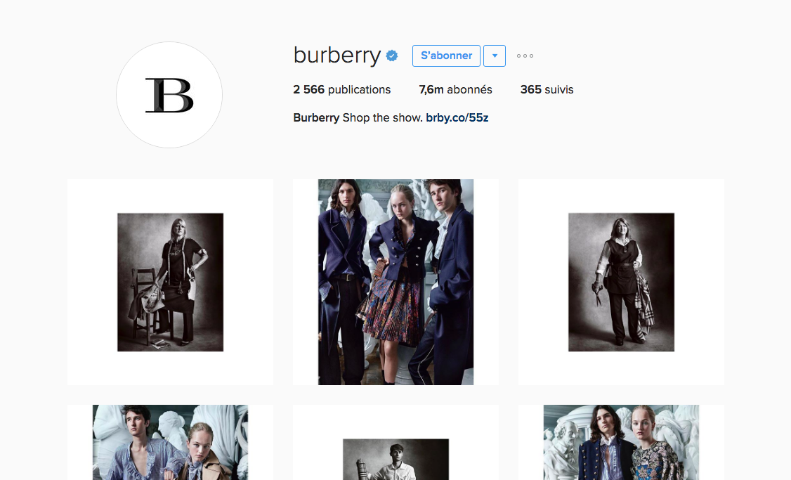 burberry-social-media-presence-instagram