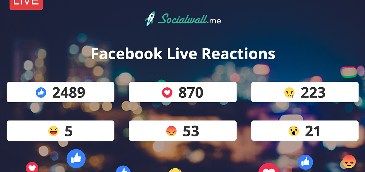 Capture and stream in real-time Facebook Live reactions