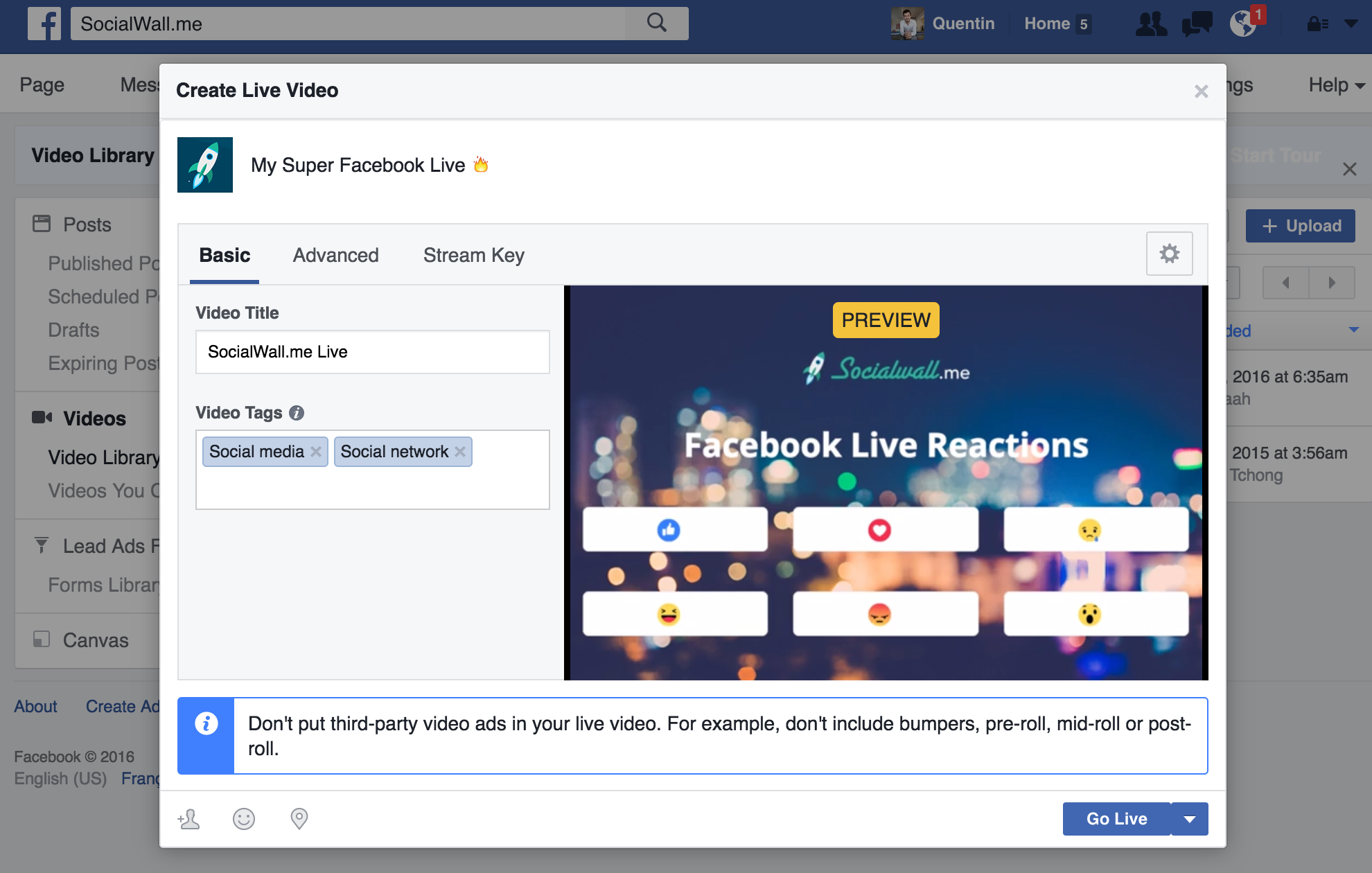 Capture And Stream In Real Time Facebook Live Reactions Socialwall